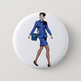 Business Woman Pinback Button