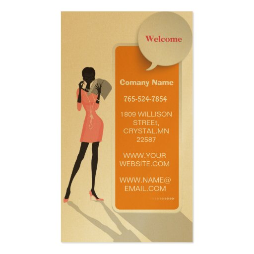 Business woman premium paper business card zazzle for Business cards for women