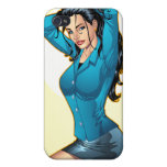 Business Woman Pulling Her Hair Up and Ready to Go iPhone 4/4S Cases