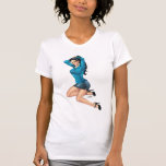 Business Woman Pulling Her Hair Up and Ready to Go T-Shirt