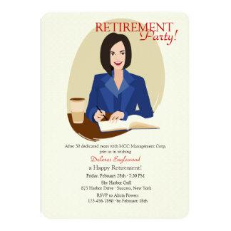 Business Woman Retirement Party Invitation