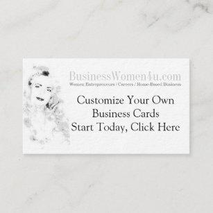 Women entrepreneur business cards zazzle business women customized business cards colourmoves