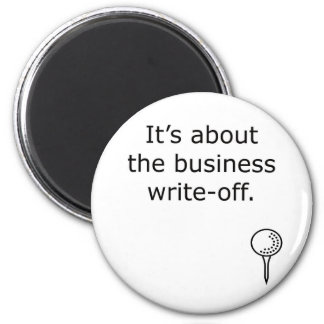 Business Write-Off Golf Design Magnet