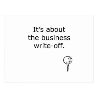 Business Write-Off Golf Design Postcard