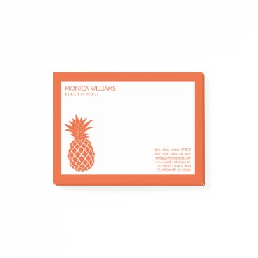 Professional Business Business You Text | Tropical Pineapple Post-it Notes