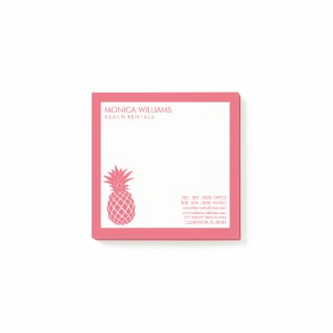 Professional Business Business Your Text | Tropical Pineapple Post-it Notes