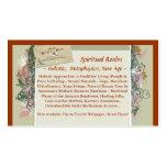 BusinessCard, reino espiritual, ~ holístico, meta… Tarjetas De Visita