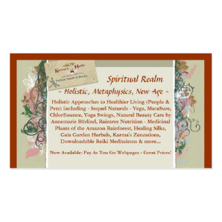 BusinessCard, reino espiritual, ~ holístico, meta… Plantilla De Tarjeta De Negocio