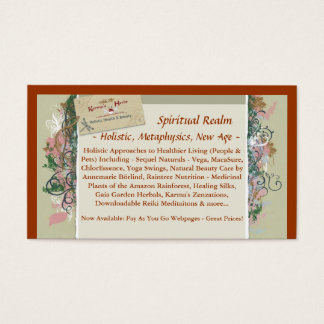 BusinessCard, Spiritual Realm, ~ Holistic, Meta... Business Card