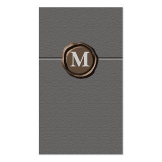 Businesscards del monograma tarjetas de visita