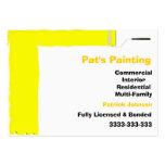 Businesscards del pintor tarjeta personal