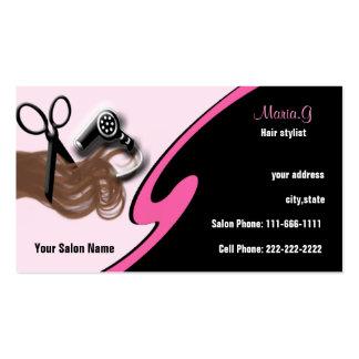 Businesscards del salón de pelo tarjetas de visita