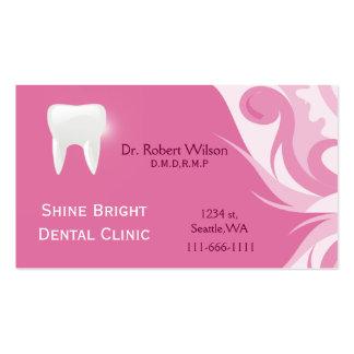 Businesscards dentales con la tarjeta de la cita tarjetas de visita