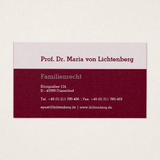 Businesscards Law Business Card