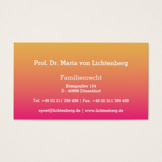 Businesscards pale red business card