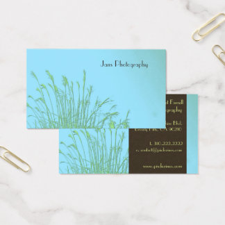 Businesscards template, weed grass business card