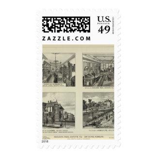 Businesses and Residences, Abilene, Kansas Postage