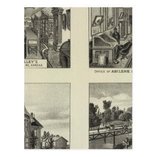 Businesses and Residences, Abilene, Kansas Postcard
