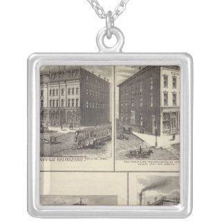 Businesses in East Des Moines and Des Moines, Iowa Silver Plated Necklace
