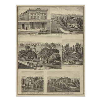 Businesses, residences, San Jose, Mtn View Poster