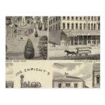 Businesses, San Jose, Santa Clara Postcard