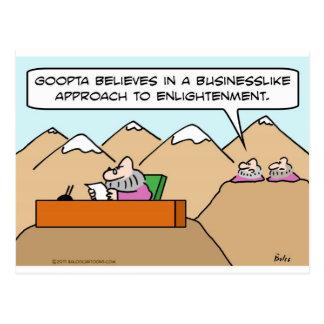 businesslike approach to enlightenment guru postcard