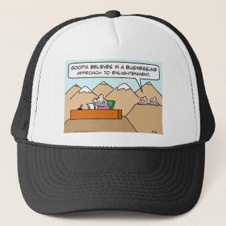 businesslike approach to enlightenment guru trucker hat