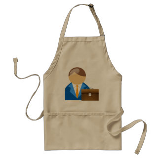 Businessman And Briefcase Apron