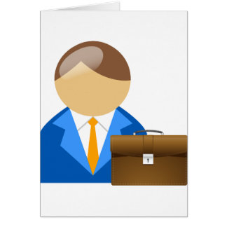 Businessman And Briefcase Greeting Cards