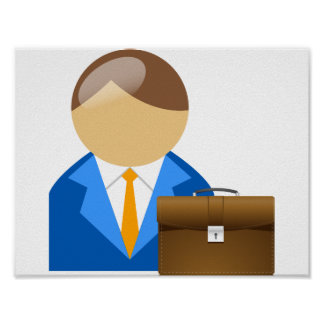 Businessman And Briefcase Poster