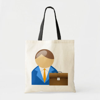 Businessman And Briefcase Tote Bag