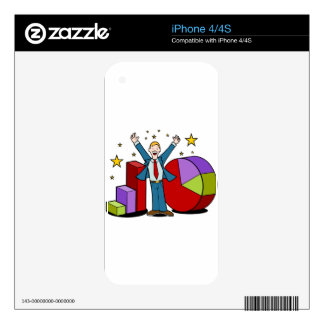 Businessman and Business Charts iPhone 4 Decals
