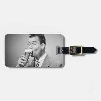 Businessman Drinking Beer Bag Tag