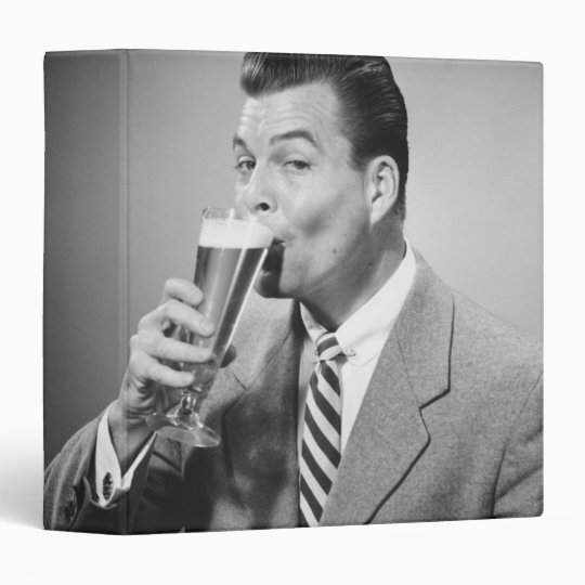 Businessman Drinking Beer Binder
