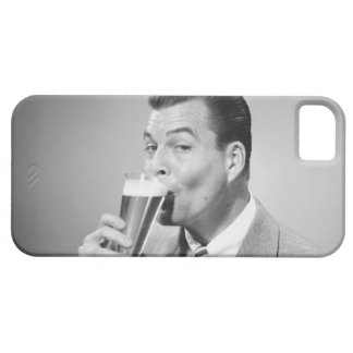 Businessman Drinking Beer iPhone 5 Cover