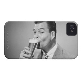 Businessman Drinking Beer Case-Mate iPhone 4 Case