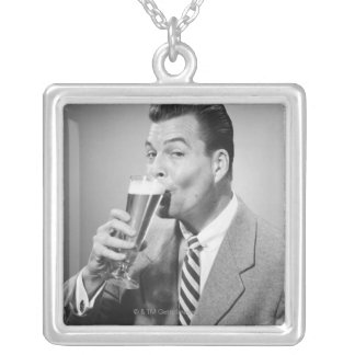 Businessman Drinking Beer Necklaces