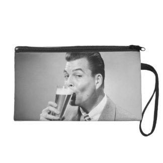 Businessman Drinking Beer Wristlet