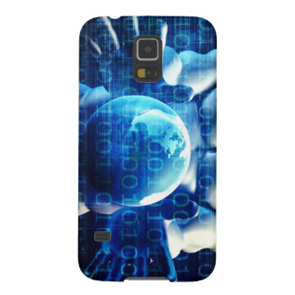 Businessman Executive Holding Globe Case For Galaxy S5