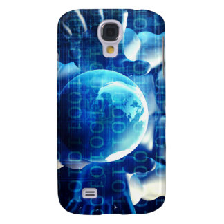 Businessman Executive Holding Globe Galaxy S4 Cover