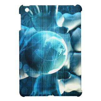 Businessman Executive Holding Globe iPad Mini Cover