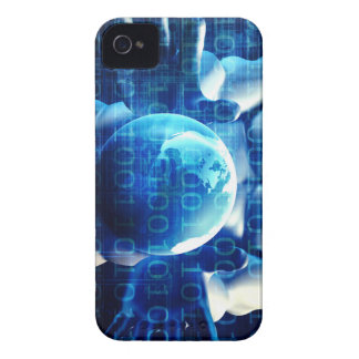 Businessman Executive Holding Globe iPhone 4 Cover