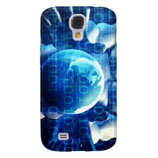 Businessman Executive Holding Globe Samsung S4 Case