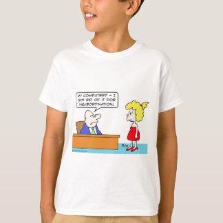 businessman, fired, computer, insubordination T-Shirt
