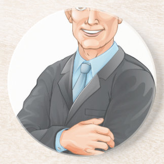 Businessman illustration coaster