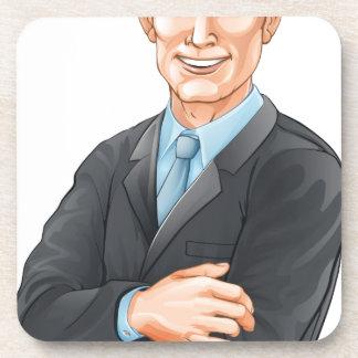 Businessman illustration drink coaster