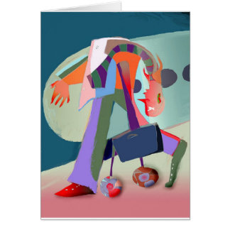 Businessman in the airport card