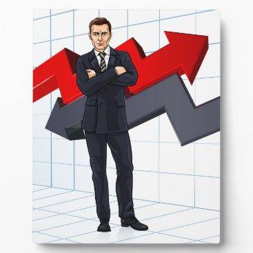 Businessman Investment Financial Advisor Concept Plaque