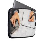 businessman laptop concept computer sleeve