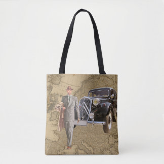Businessman Map of Europe and Car Tote Bag